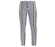Triangle-check Jacquard And Leather Trousers