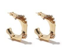 Bamboo Small Crystal-embellished Hoop Earrings