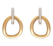 Inner Naho Gold-vermile And Silver-plated Earrings