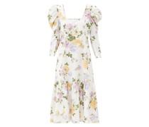 Ellington Floral-print Cotton-corduroy Dress