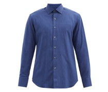 Heathered Cotton-twill Shirt