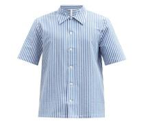 Space Striped Cotton-seersucker Shirt