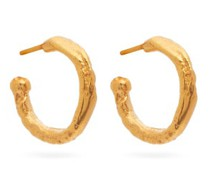 The Morning Hour 24kt Gold-plated Hoop Earrings