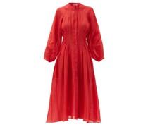 Valeraine Pleated Ramie Dress