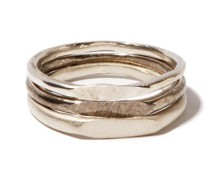 Spliced Set Of Three Sterling-silver Rings