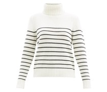 Molly Striped Cashmere Roll-neck Sweater