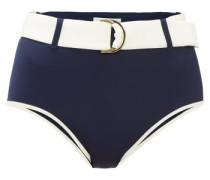 Azur Belted High-rise Bikini Briefs