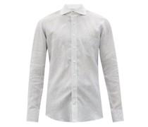 Patch-pocket Striped Linen Shirt