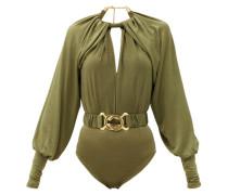 Mika Belted Crepe Bodysuit
