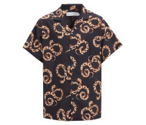 The Kaa Snake-print Cotton Pyjama Shirt