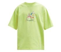 Brittle Mushroom-print Cotton-jersey T-shirt