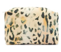 Leopard-print Coated-canvas Pouch