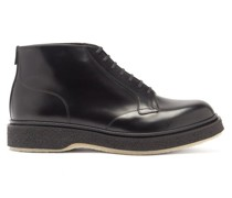 Crepe-sole Leather Boots