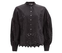 Fern Broderie-anglaise Cotton-poplin Shirt