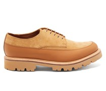 Earl Chunky-sole Suede And Leather Derby Shoes