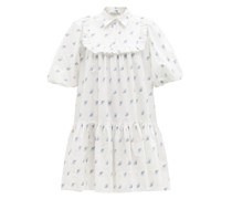 Anika Floral-print Cotton-cloqué Mini Dress