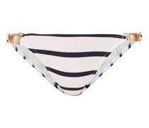 Athens Striped Chain-link Strap Bikini Briefs