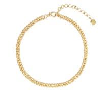 Diamond & 18kt Gold Curb-chain Choker