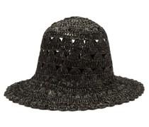 Macramé-knitted Bucket Hat
