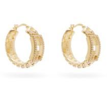 F-logo Crystal Hoop Earrings