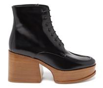 Hattie Leather Platform Ankle Boots