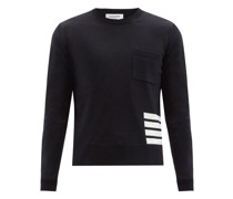 Four-bar Patch-pocket Wool Sweater