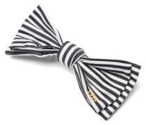 Striped-cotton Bow Hair Clip