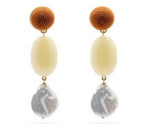 Golden Field Baroque-pearl & Gold-plated Earrings