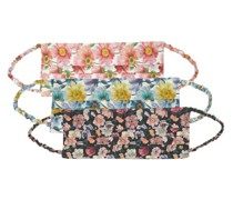 Pack Of Three Floral-print Cotton Face Coverings
