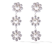 Crystal And Faux-pearl Drop Earrings