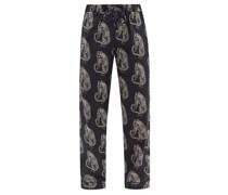 Sansindo Tiger-print Cotton-poplin Pyjama Trousers