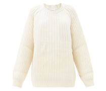 Oversized Crew-neck Chunky Wool-blend Sweater
