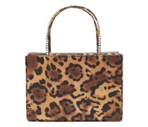 Amini Gilda Leopard-print Satin Box Bag