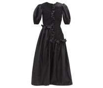 Camden Ruffled Faille Midi Dress