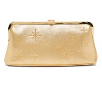 Susanna Crystal-embellished Leather Clutch