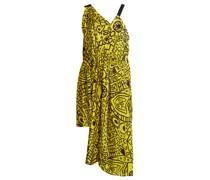 Abstract-print Asymmetric Tie-waist Dress