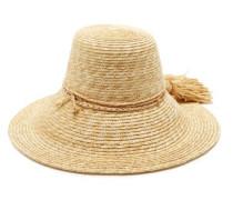 Re-rope Wide-brim Raffia Hat