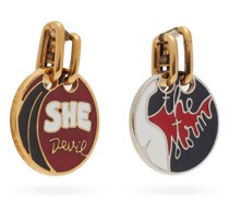Franckie Mismatched Drop Clip Earrings