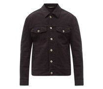 Patch-pocket Cotton-twill Jacket