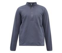 Zip-neck Cotton-jersey Sweatshirt
