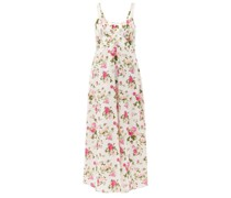 Sabina Floral-print Cotton-poplin Maxi Dress