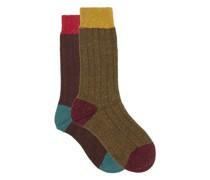 Pack Of Two Thornham Ribbed Socks