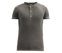 Textured Cotton Henley T-shirt