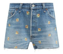 The Short Floral-embroidered Shorts