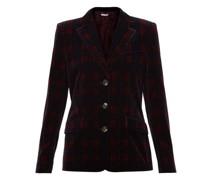 Single-breasted Tartan Cotton-velvet Jacket
