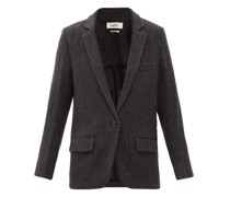 Charly Single-breasted Herringbone-wool Blazer