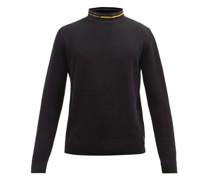 Logo-collar Cotton-blend Sweater