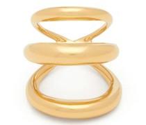 Echo Triple-band 18kt Gold-vermeil Ring