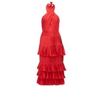Eccentric Vibes Halterneck Jacquard Midi Dress