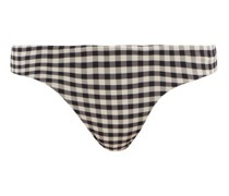 Basic Gingham-check Jersey Bikini Briefs